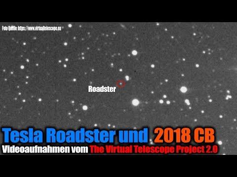 Tesla Roadster und Asteroid 2018 CB auf Video - TVTP