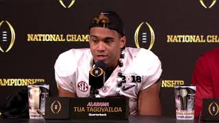 Tua Tagovailoa on being confident in being inserted in national title game