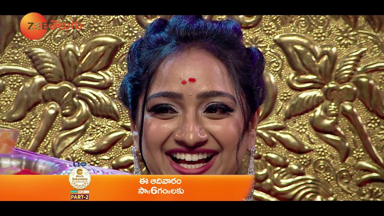 Ashika Emotional Promo  Zee Telugu Kutumbam Awards 2021 PART 2   Sun, 9 PM   ZEE Telugu