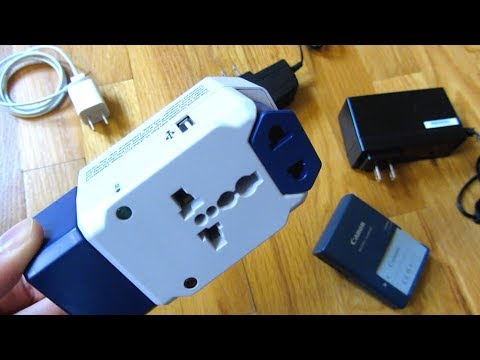 Universal Travel Electrical Plug Adapter | 3 Outlet Plug With USB