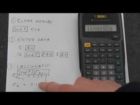 TI-30Xa: Standard Deviation