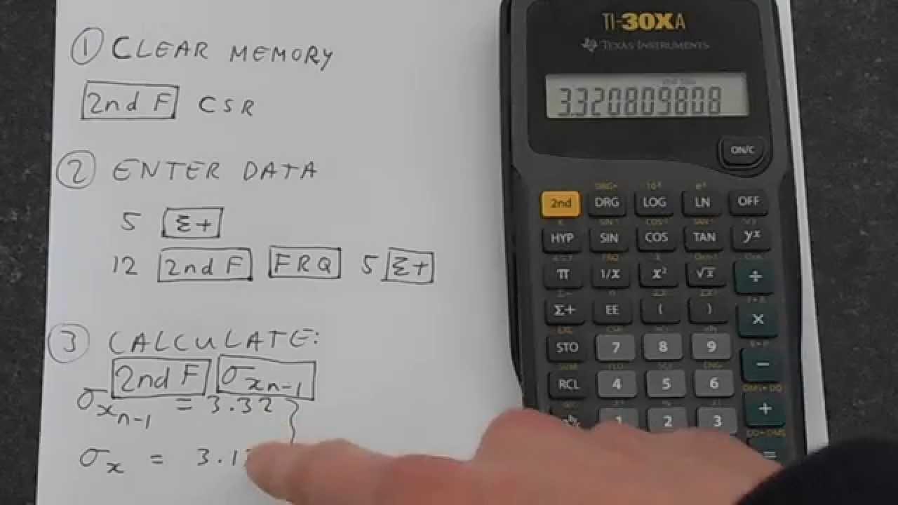 Ti30xa: Standard Deviation Calculator Expert
