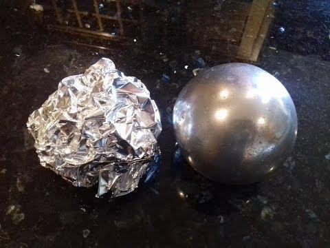 Polished Aluminium Foil Ball (sanding sanding + more sanding )
