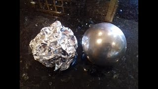 Polished Aluminium Foil Ball (sanding sanding + more sanding )