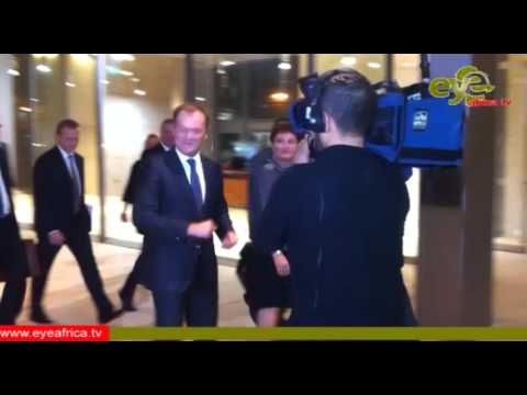 Arrival of The President of The European Council Donald Tusk on a Special sitting of the House of Re