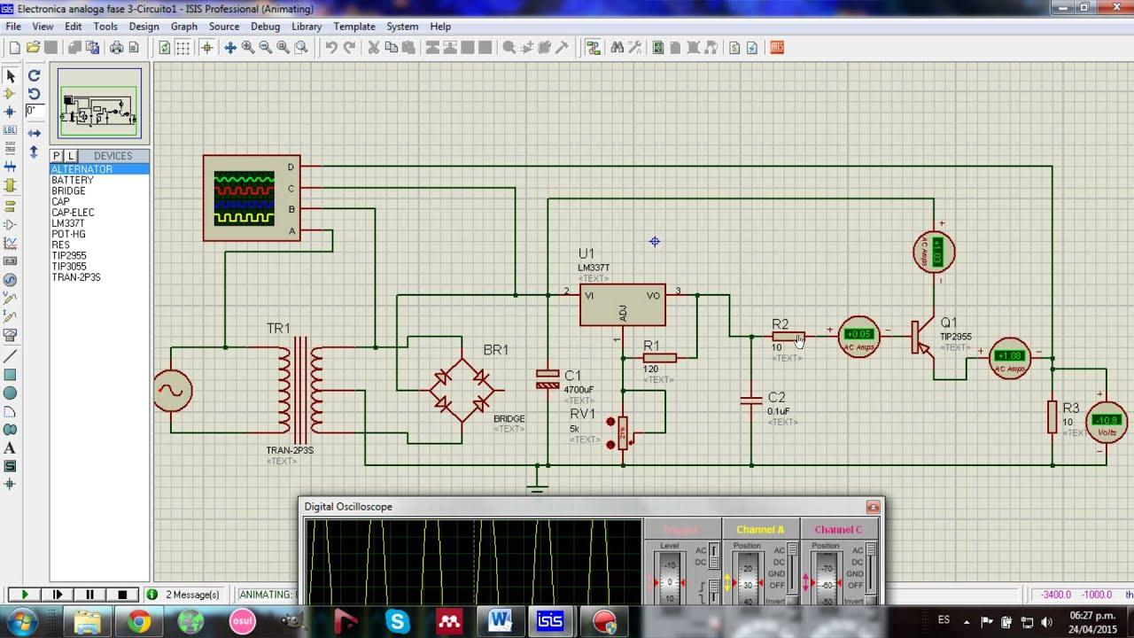 Circuito Regulador De Voltaje : Circuitos regulador negativo lm y amplificador con