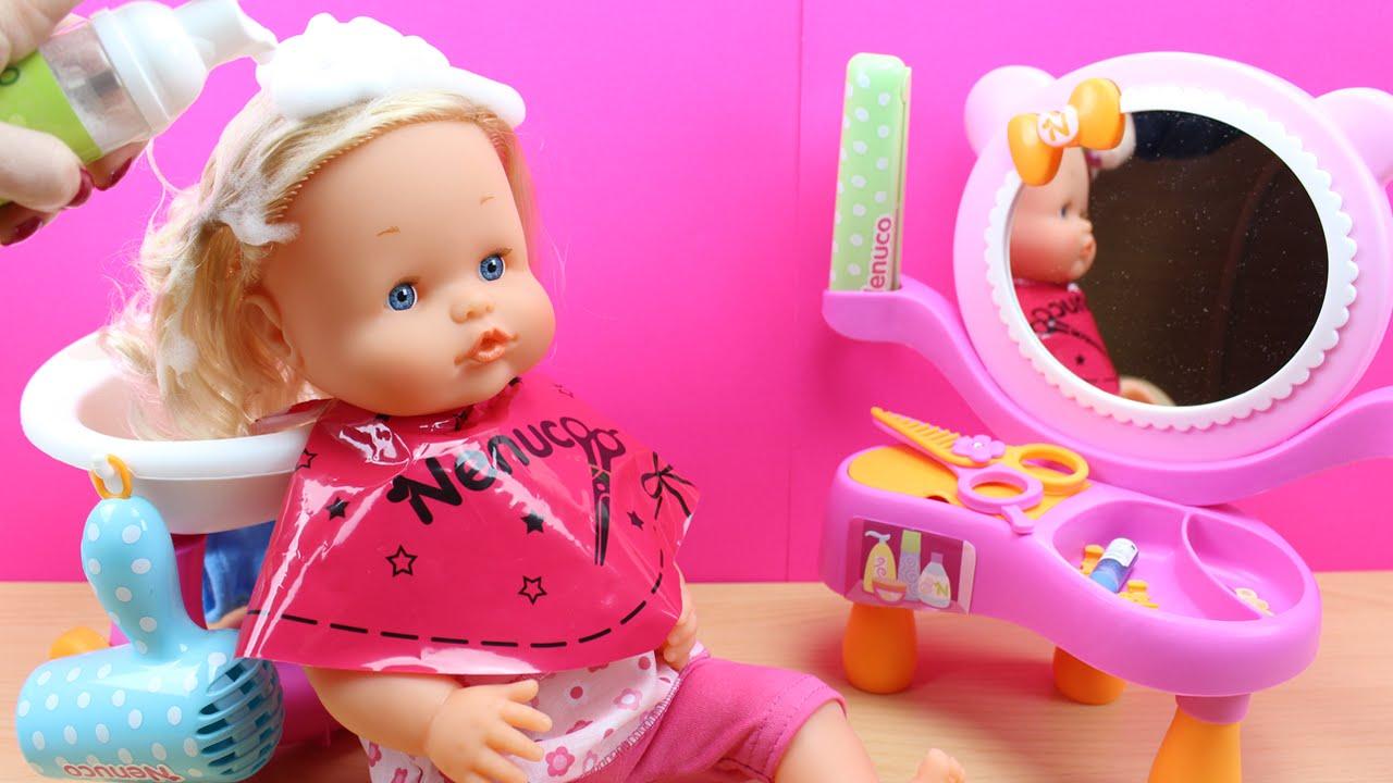 Nenuco lava y peina juguetes de nenuco en espa ol la mu eca nenuco va a la peluquer a youtube - Cocina de nenuco ...