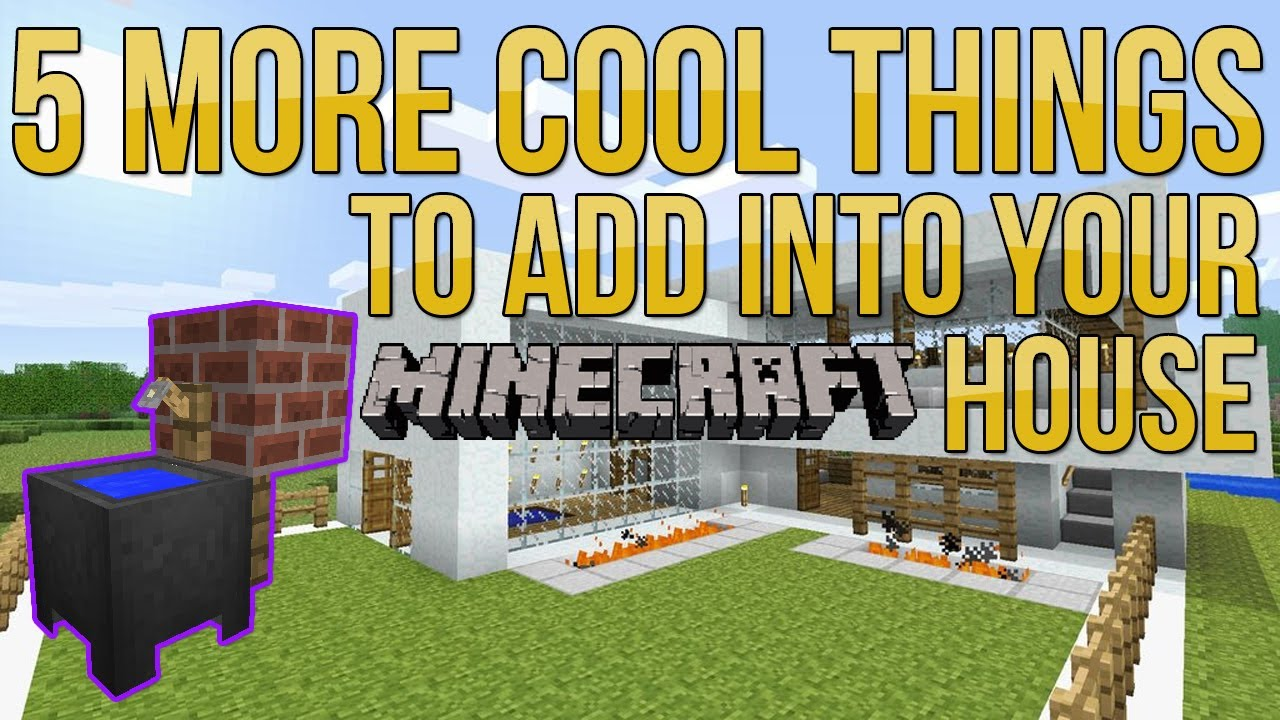 Minecraft 5 More Cool Things to Add Into Your HouseBase EP2  YouTube