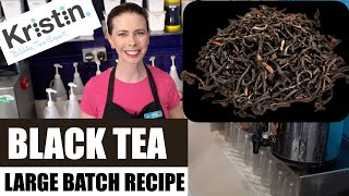 How to Brew Large Batch Black Tea for bubble tea shop