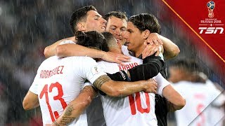 First Comeback Win Of The 2018 World Cup Switzerland Fights From Behind To Defeat Serbia