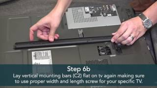 Luxor Adjustable LCD/LED Mount Flat Panel Cart Assembly Tutorial - Overstock.com