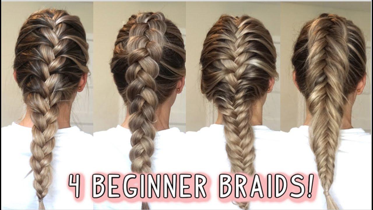 9 BEGINNER DUTCH & FRENCH BRAIDS   LEARN HOW TO BRAID Short, Medium, and  Long Hairstyles
