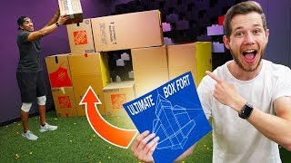NERF Box Fort Blueprint Challenge!!
