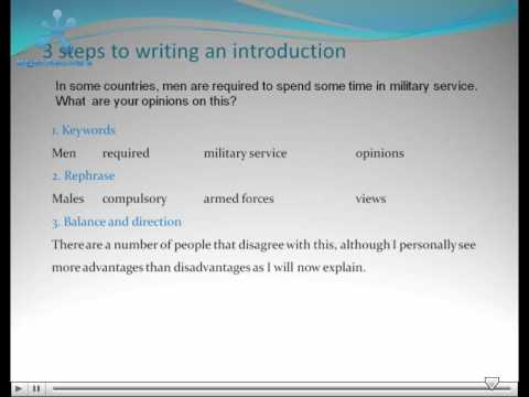 Help to write an essay for introduction ielts