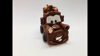 Мэтр из м/ф Тачки/how to make a wheelbarrow miter cake topper/como fazer um carrinho de mão mitra