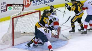 Crosby shows off precision with a snipe that beats Reimer