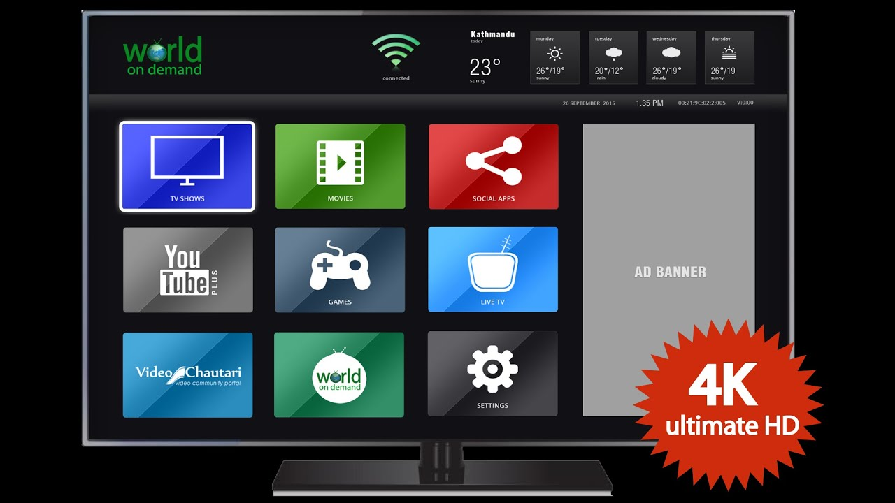 World on demand ad movie in nepali watch live tv online for Tv on demand