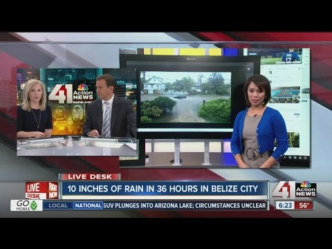 10 inches of rain in 36 hours in Belize City
