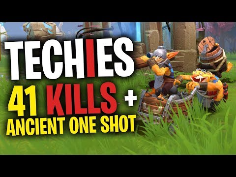 Techies 40 Bombs Then Casually One Shots Ancient - DotA 2 Funny Moments