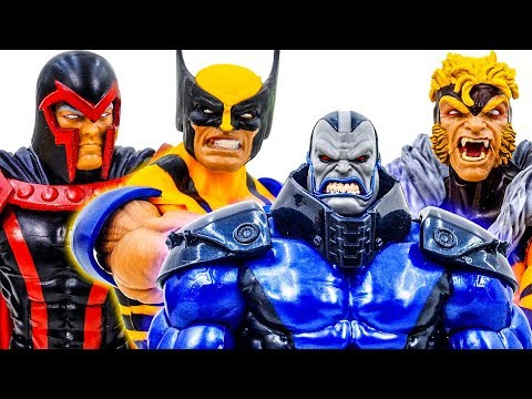 Marvel X-Men Apocalypse Defeated By Magneto and Wolverine - Superheroes Toys Pretend Play