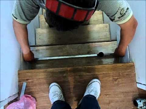 Stairs Installation: How To Install Laminate Flooring On Stairs  MrYoucandoityouself