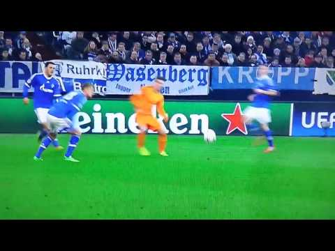 Cristiano Ronaldo Goal Schalke 04 vs Real Madrid 0-3 (1-6) UEFA Champions League (26/02/2014)