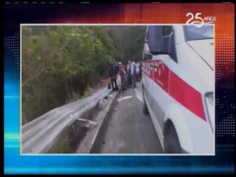 Bus Interprovincial se accidentó en la vía a El Triunfo