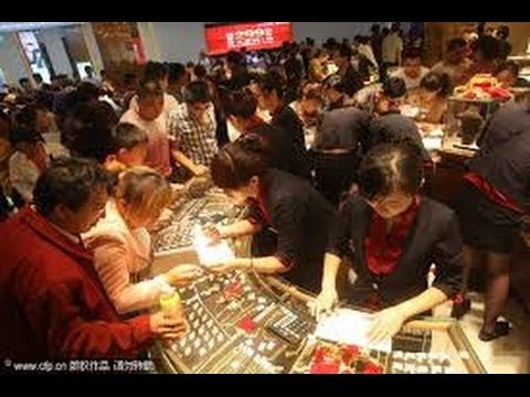 China Has Over 100,000 Outlets That Sell Gold Bars And Jewelry!!