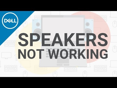 No Sound from External Speakers on a Dell Desktop Computer