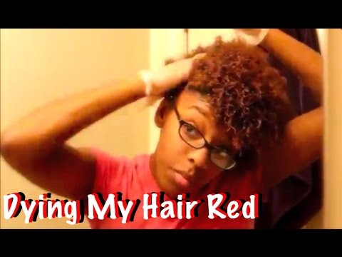 Dying My Natural Hair Jazzy Red Silk Elements Youtube