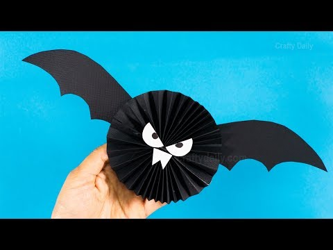 DIY Paper Bat Halloween Decorations | Easy Halloween Crafts for Kids