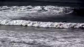 台風8号の大波が鎌倉稲村ガ崎に襲来、サーフィンビッグチャンス(7/8朝)