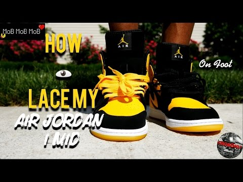 6cf50b4d2b2ad4 How I lace my Air Jordan 1 Mid