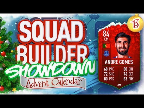 THE SQUAD BUILDER SHOWDOWN ADVENT CALENDAR FUTMAS ANDRE GOMES VS REEV Day 13