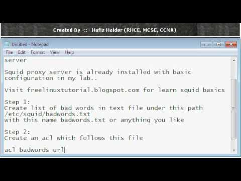 How Filter Keywords in Squid Proxy Server (Hafiz Haider ...