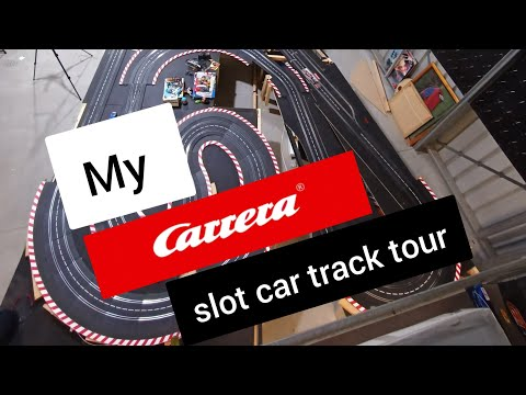 Carrera evolution slot car track layout