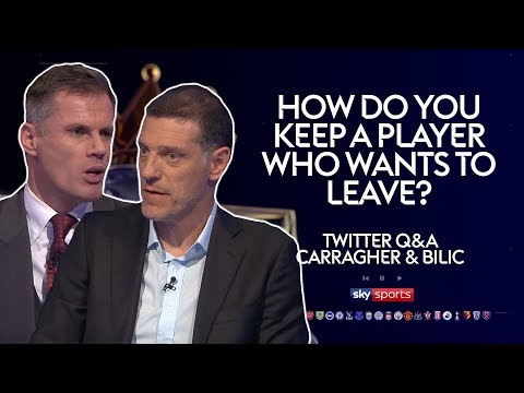 How do you keep a player who wants to leave? | Jamie Carragher & Slaven Bilic | Twitter Q & A