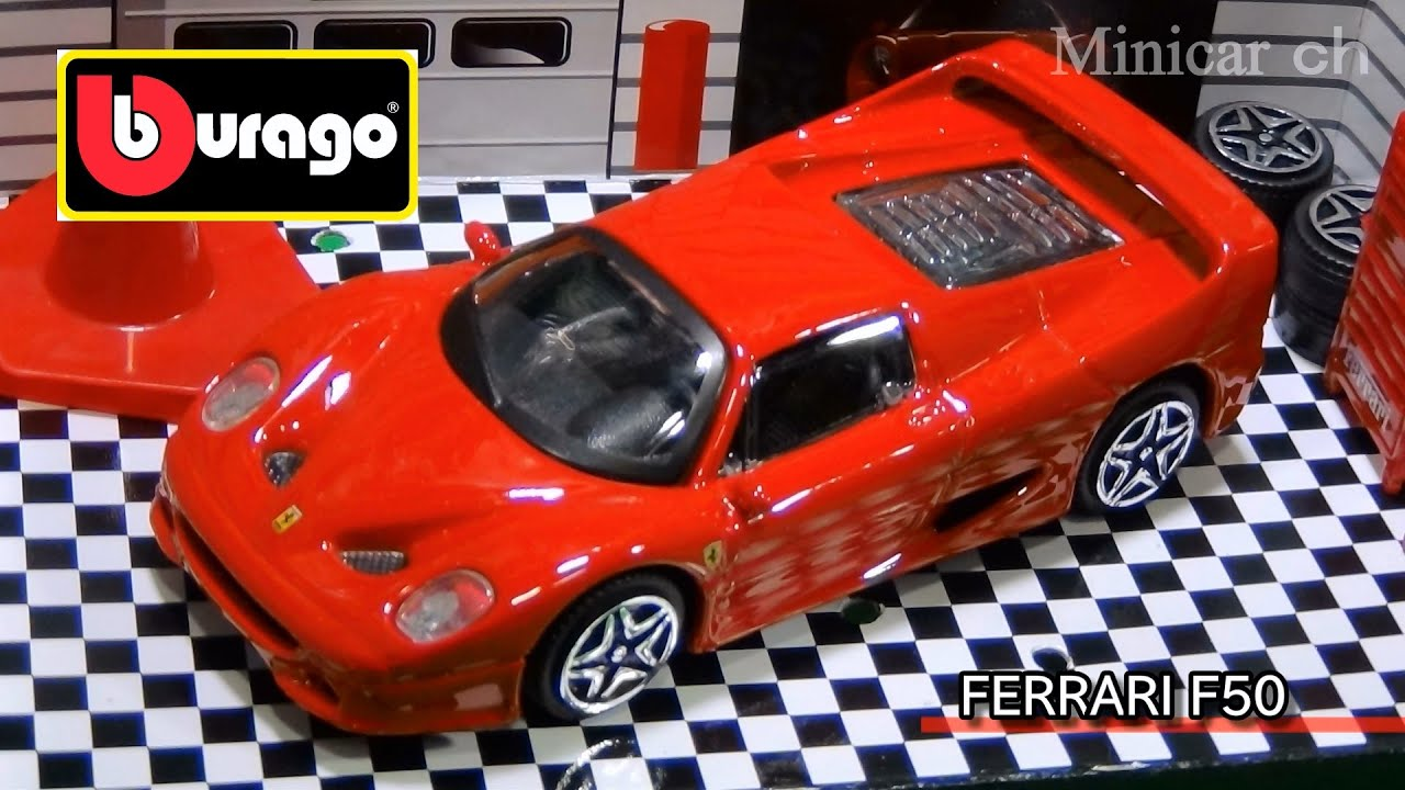 bburago 1 43 ferrari f50 race play youtube. Black Bedroom Furniture Sets. Home Design Ideas
