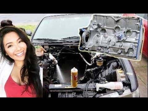 KA24DE Rebuild Ep.2 Cleaning Engine Bay & Painting the Block
