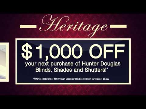 Heritage Wallpaper & Blinds - Holiday Sale