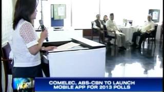 ABS-CBN ، Comelec إنشاء التطبيق 2013 استطلاعات الرأي