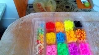 Мое первое видео мои резиночки для плетения