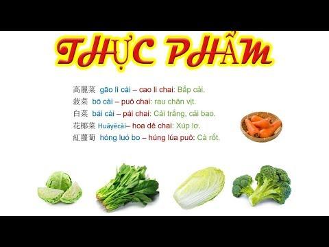 Tên một số loại thực phẩm trong tiếng Trung
