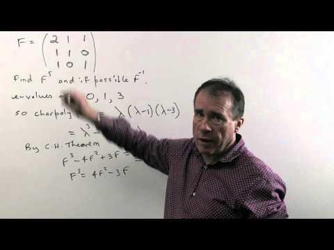 Linear Algebra 20: Powers of a matrix using the Cayley-Hamilton theorem (Ch9 Pr5a)