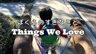 A 1 year old boy and his dogs love to do things together everyday. ...