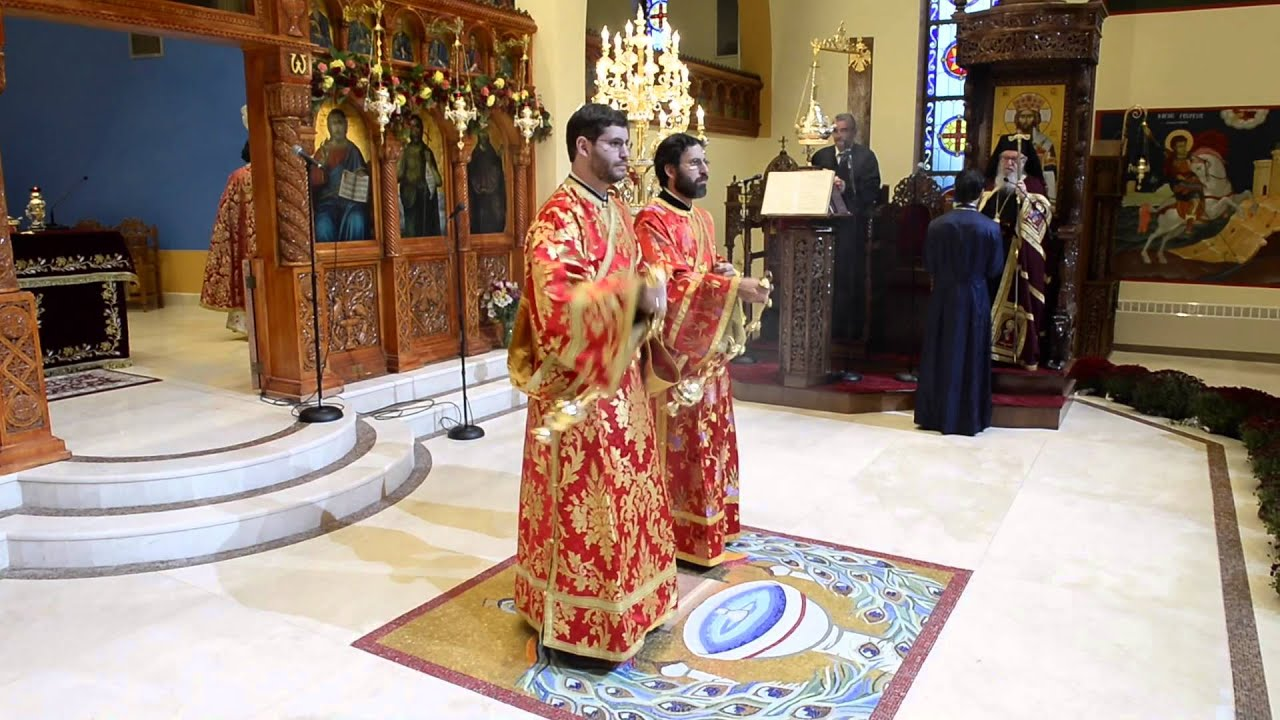 LITURGY & THE RE-OPENING AND BLESSING OF ST. DEMETRIOS GREEK ORTHODOX CHURCH, MERRICK, NY.
