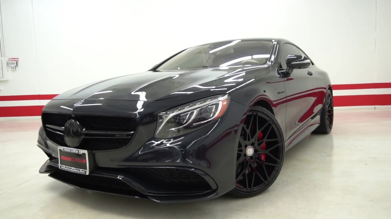 2015 Mercedes Benz S63 Amg 4matic Coupe Custom 180k Msrp Black Out Package Custom 22 Wheels Youtube