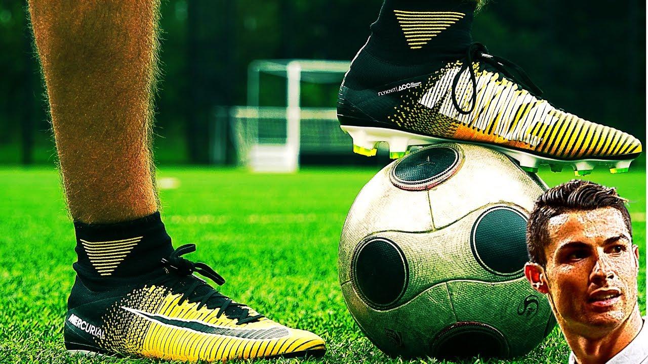 d2749f1d3b62 Testing GOLD NEW 2017 Cristiano Ronaldo Boots: NIKE Mercurial ...