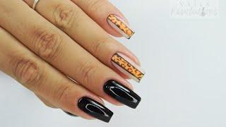 Easy leopard nails art/ Colours by Molly #leopardnailsart