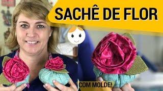 SACHÊ DE FLOR ROSA PERFUMADO PARA O DIA DAS MÃES
